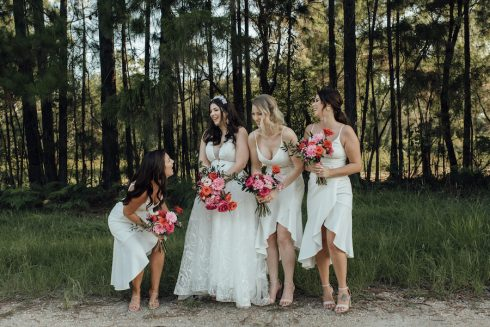 bridesmaids in kings forest casuarina