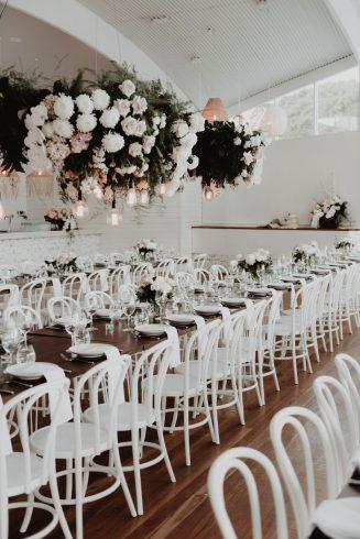 Ancora venue reception table styling
