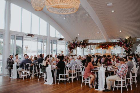Wedding venue reception guests