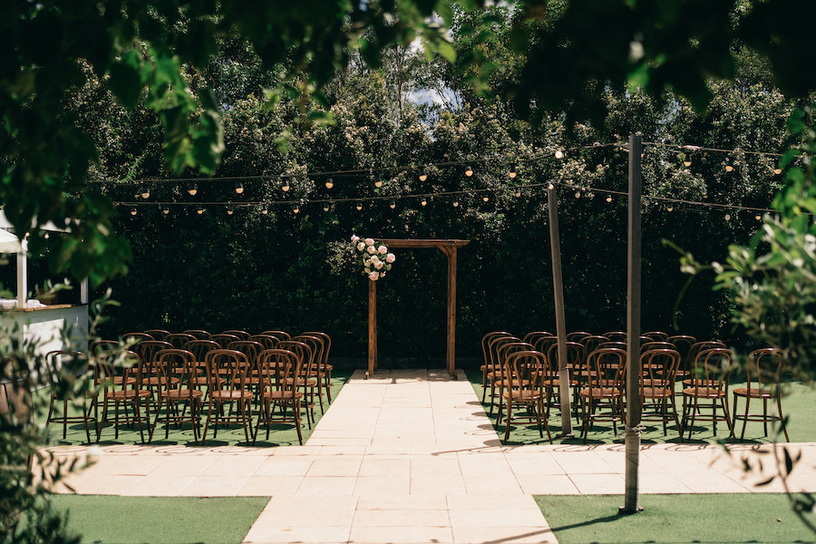 Private garden wedding ceremony