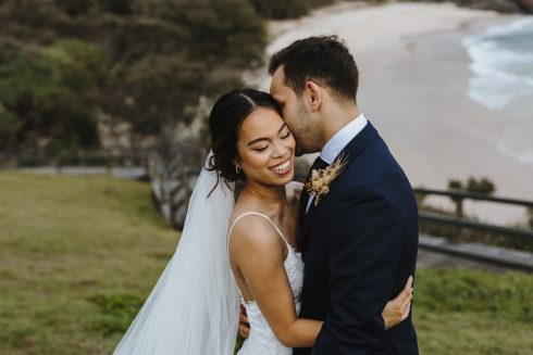 bride and groom at norris headland