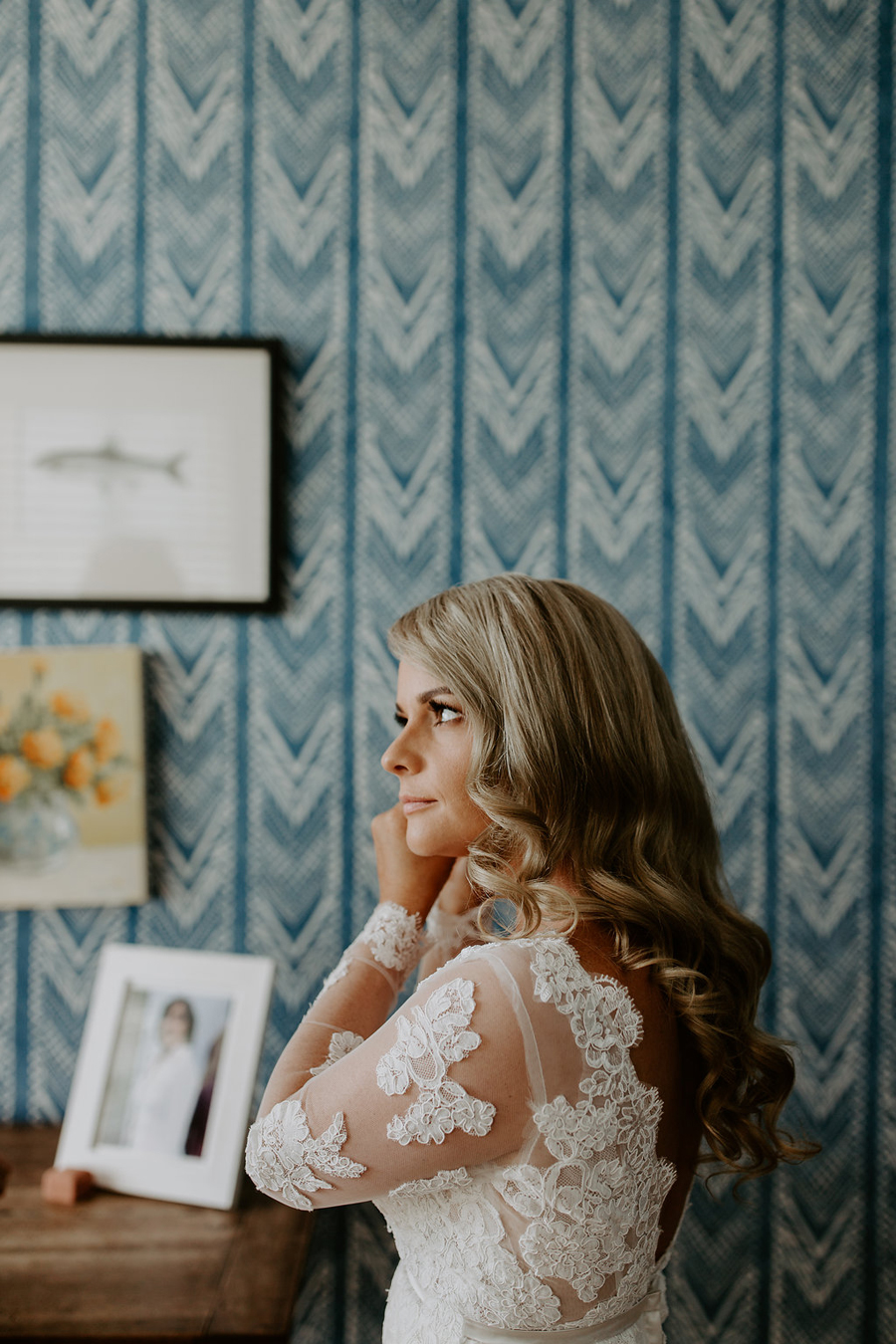 Bride getting ready at Halcyon House