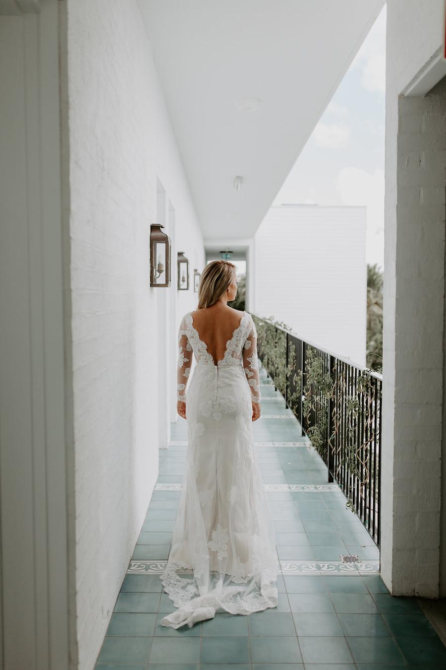 Bride at Cabarita wedding accommodation