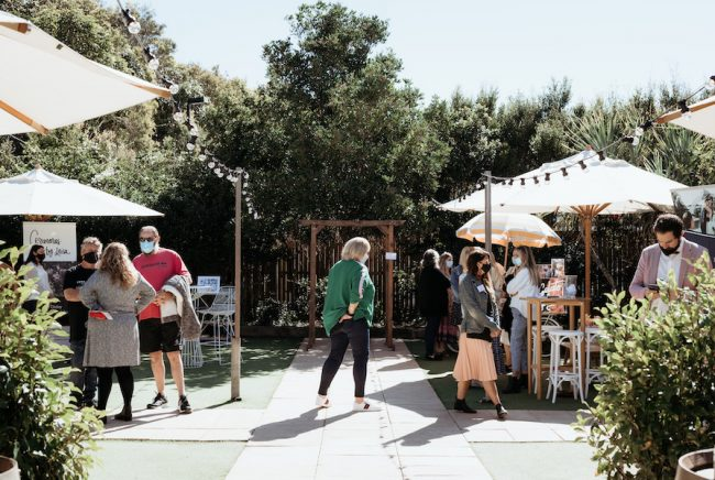 The osteria garden at the Winter open day 2021
