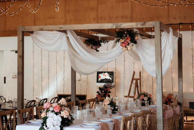 Osteria wedding refinery styled for the tweed winter open day 2021