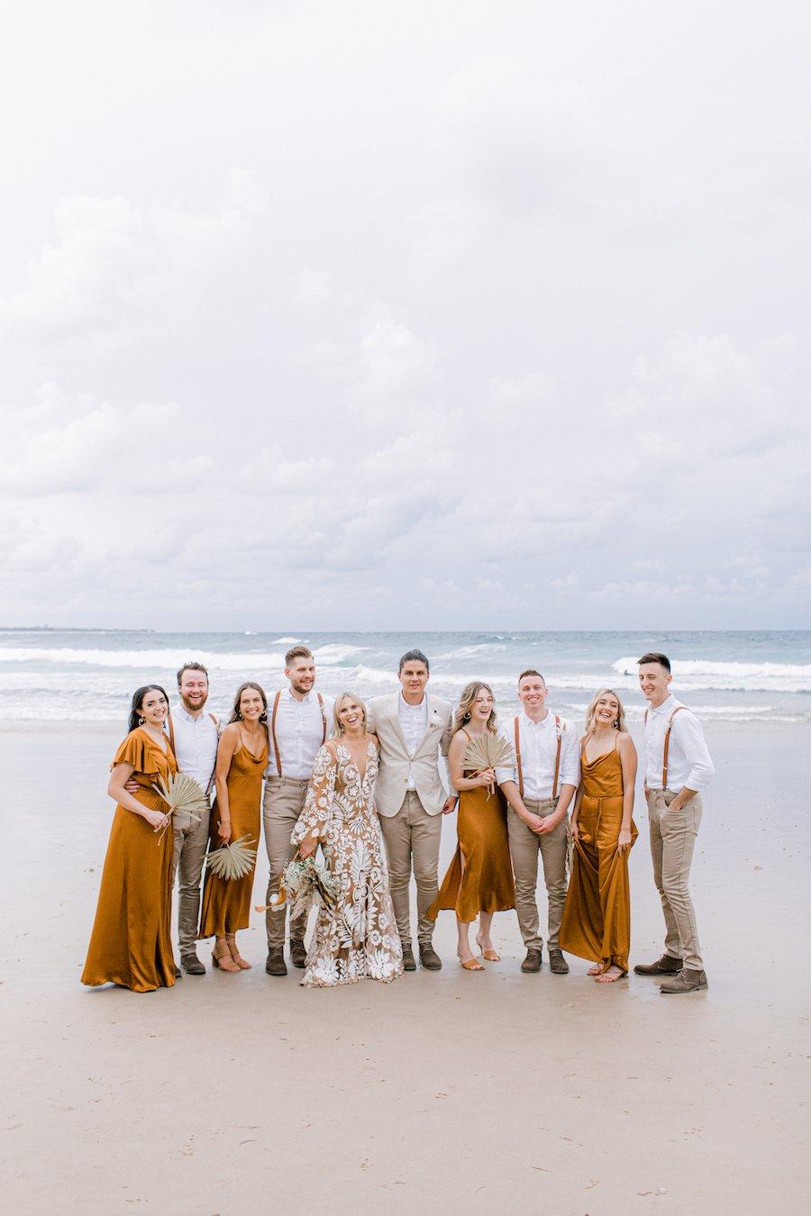 bridal party on Casuarina beach