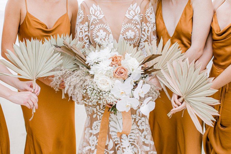 wedding flowers and wedding dresses