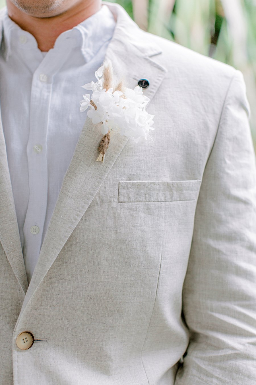 grooms peter jackson jacket with flower