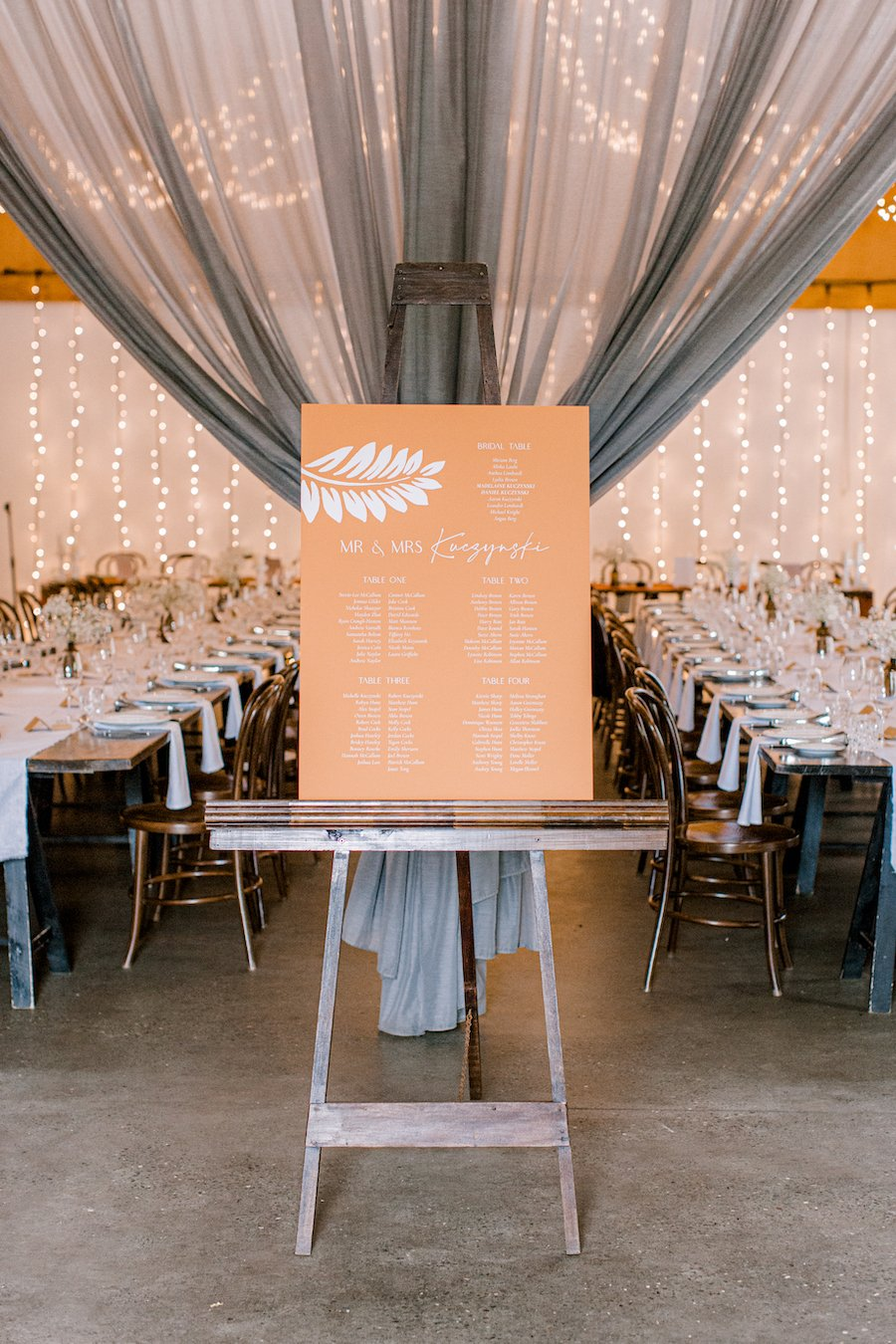 wedding signage for guest seating chart