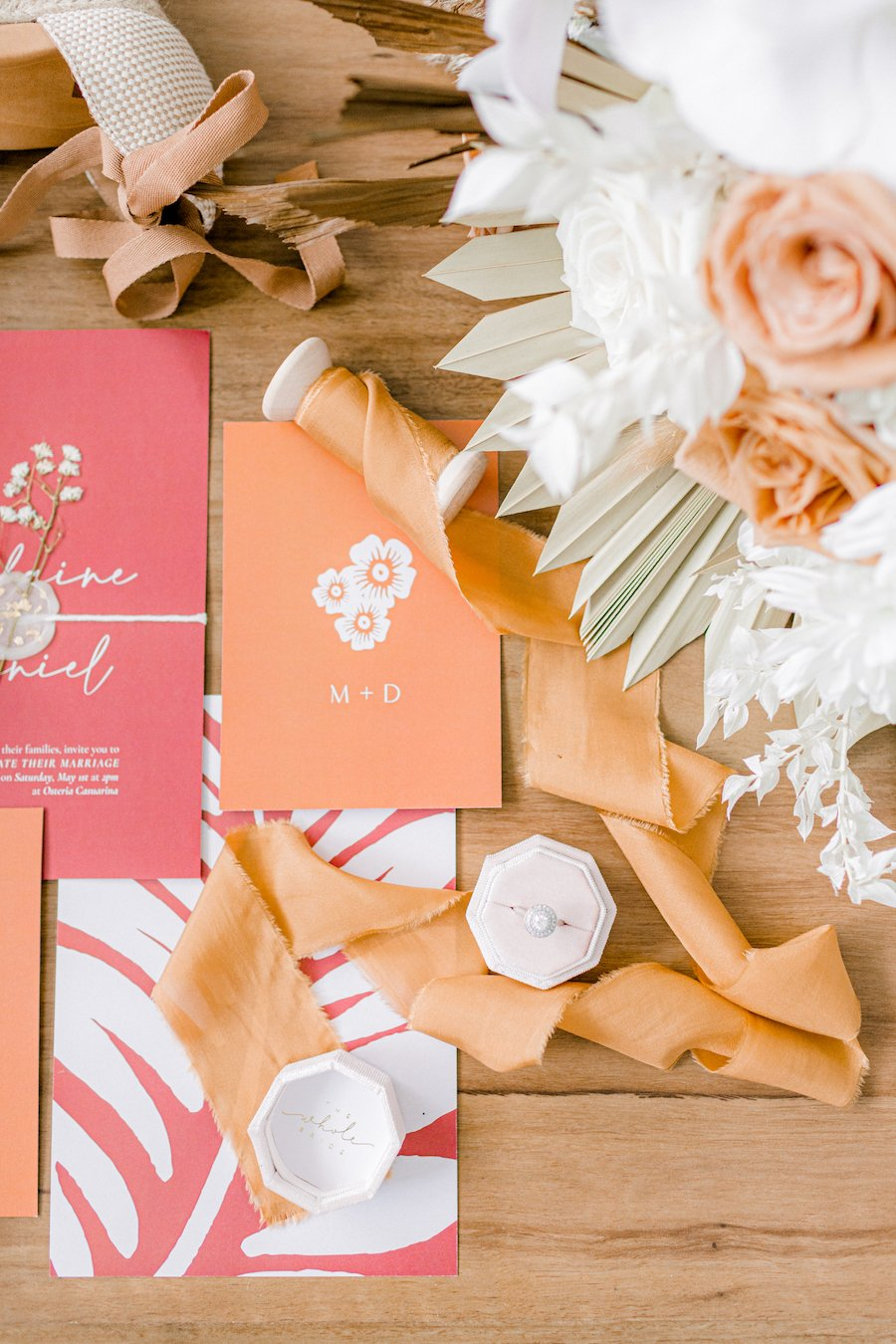 Wedding invitation and the whole bride accessories
